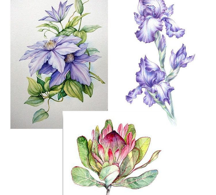 Poll: flowers in needle painting